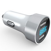 USB Car Charger With LED