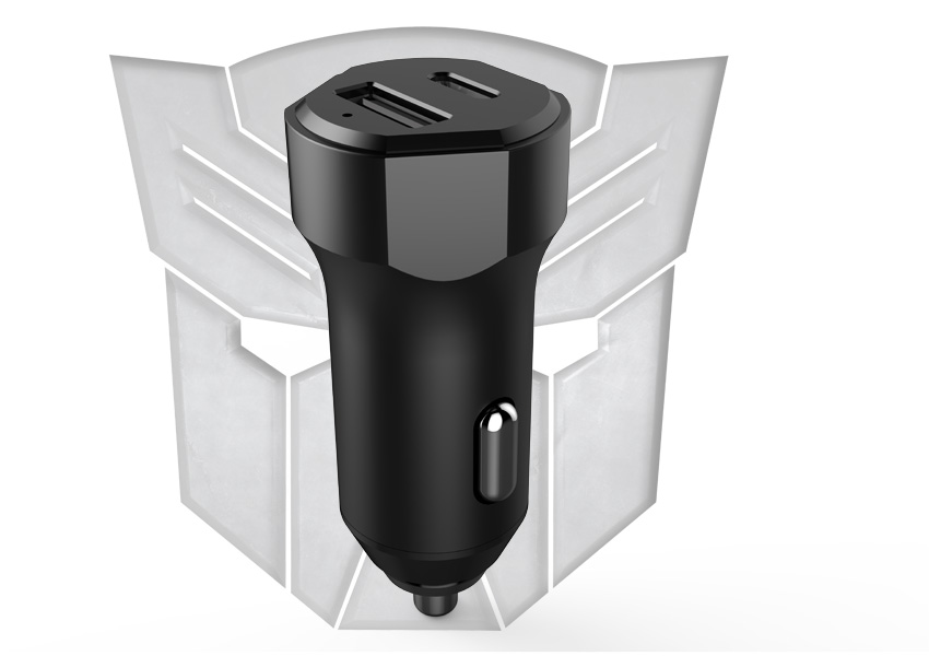 Our USB Car Charger is inspired by transformer design