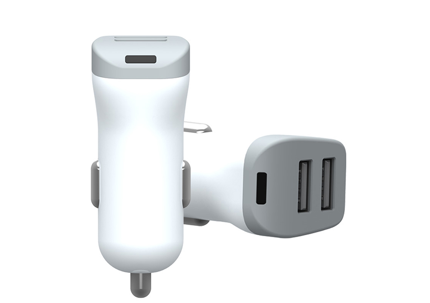 our 12V Car Charger equipped with dual port output